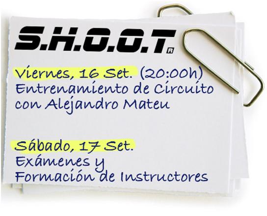 AGENDA SHOOT - Septiembre