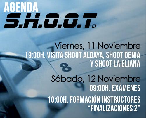 Agenda SHOOT - Noviembre