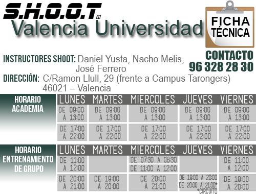 Ficha Técnica SHOOT Valencia Universidad