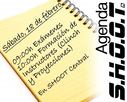 Agenda SHOOT - Febrero 2
