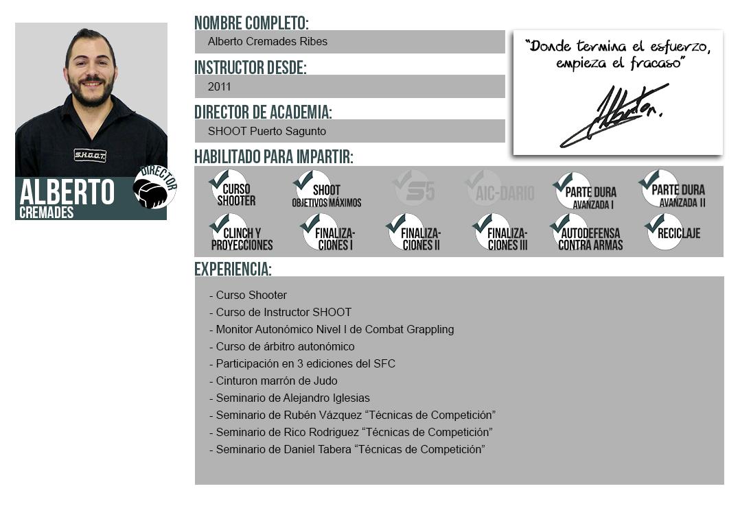 Ficha Instructor: Alberto Cremades