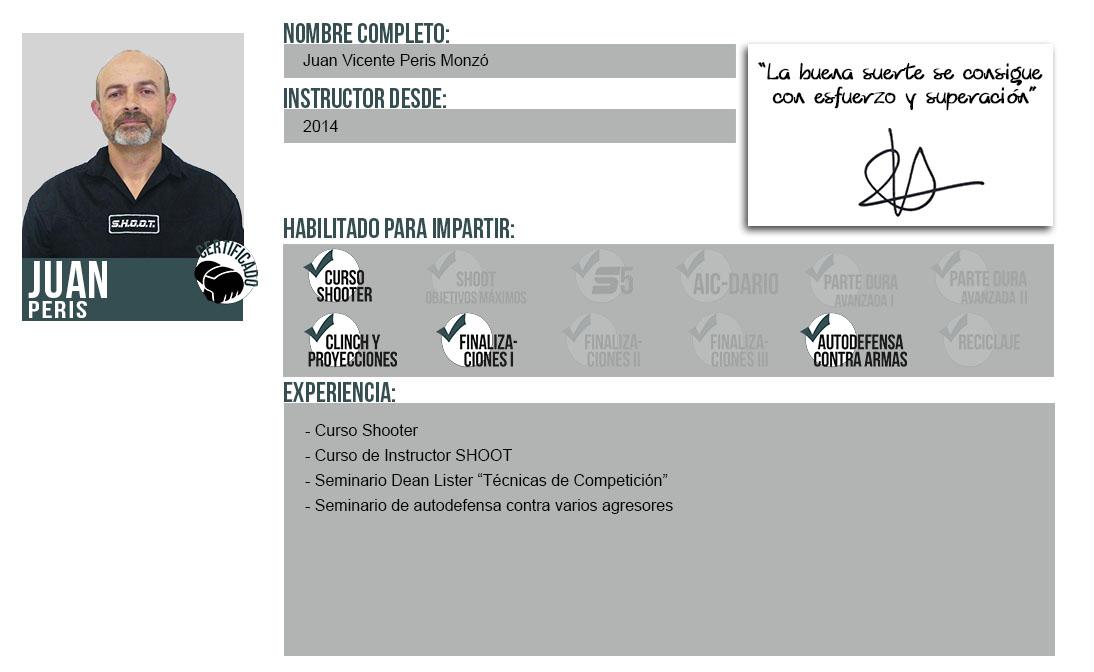 Ficha Instructor: Juan Peris