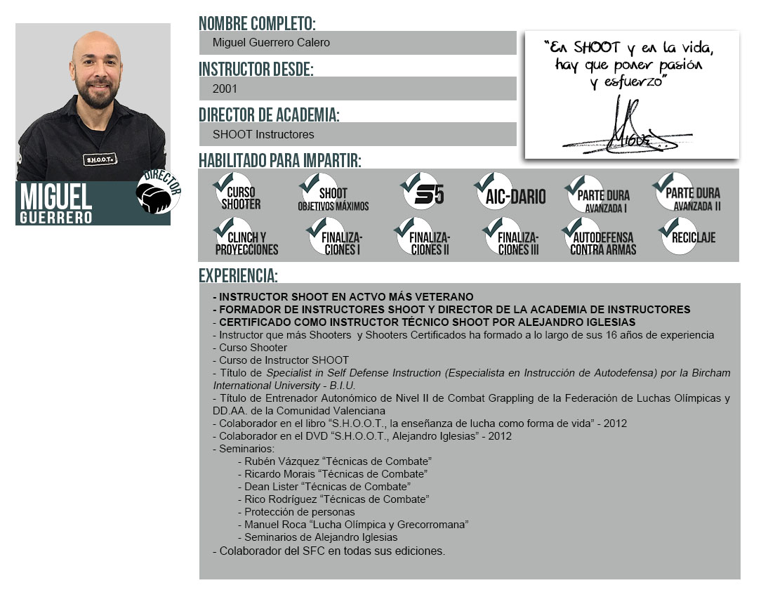 Ficha Instructor: Miguel Guerrero