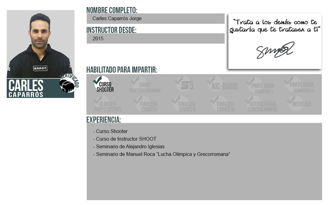 Ficha Instructor: Carles Caparrós