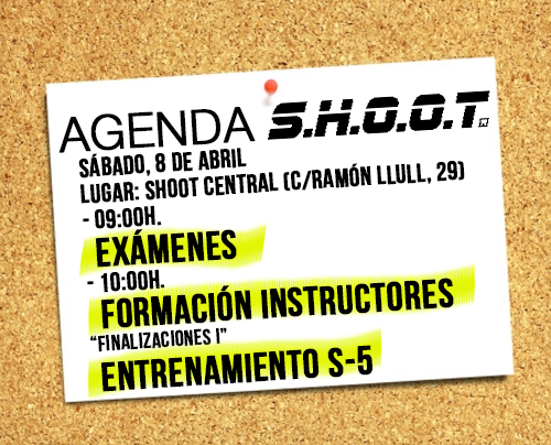 Agenda SHOOT - Abril 2017