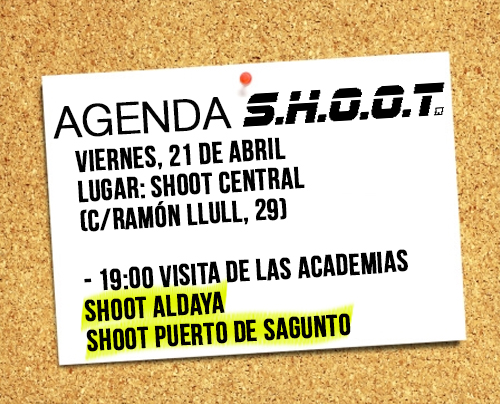 Agenda SHOOT - Abril