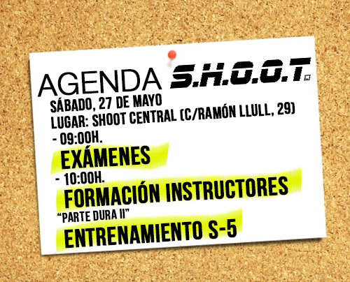 Agenda SHOOT Mayo 2017